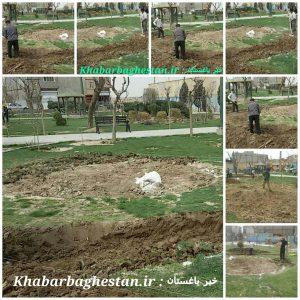 تصاویر آماده سازی مزار شهدای گمنام در نصیرآباد-باغستان