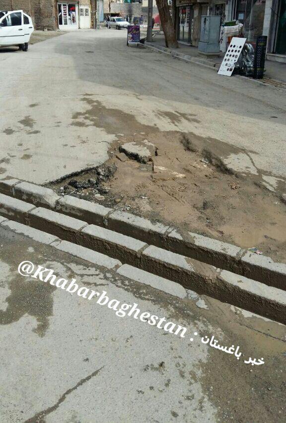 وضعیت نامناسب آسفالت خیابان ریحانی نصیرآباد
