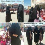 مراسم قاشق زنی در مدرسه عزیزاله پزشکی نصیراباد