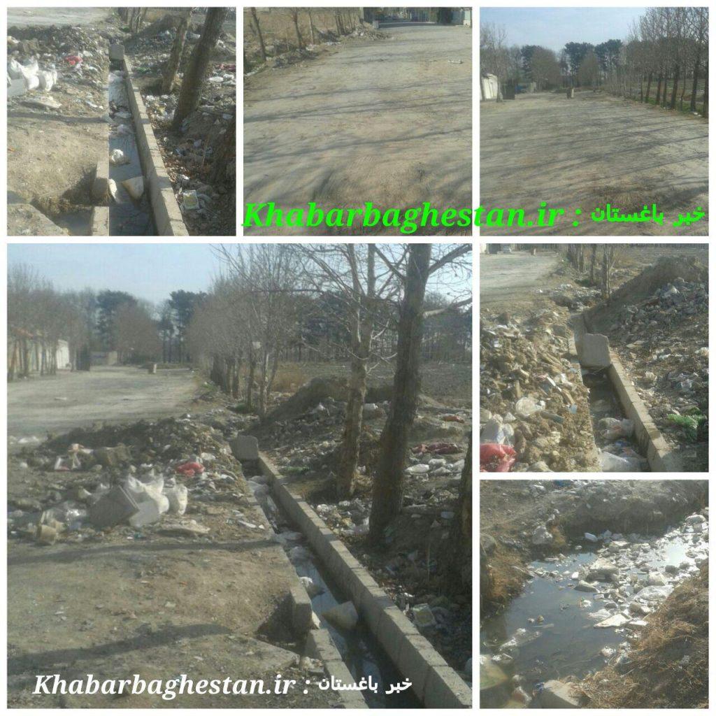 وضعیت نامناسب خیابان و جوی آب لاله ششم شرقی خادم آباد