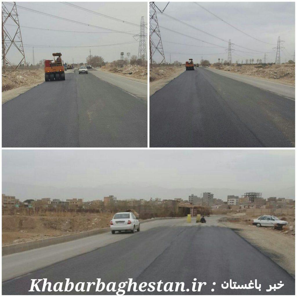 جاده نصیر آباد به دهشاد پایین که بعد از ماه ها آسفالت شد
