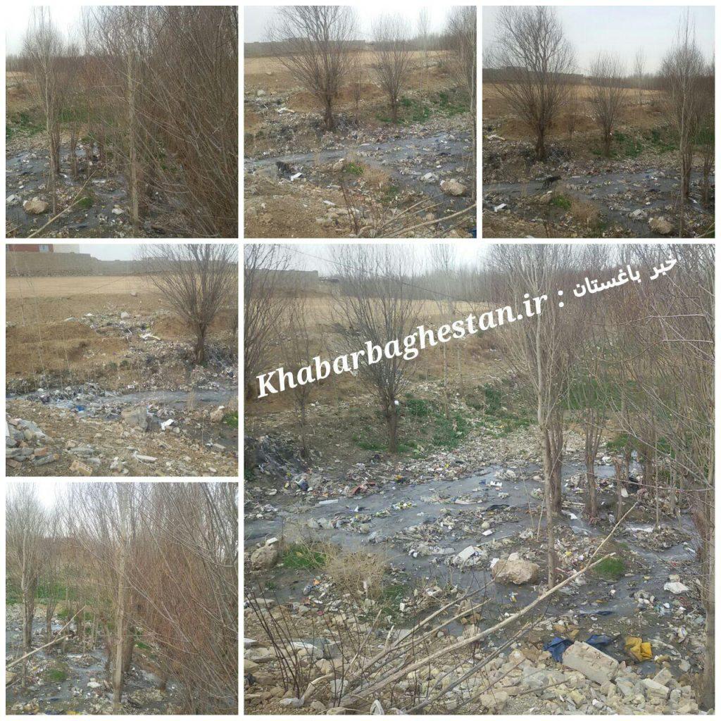 وضعیت اسفناک دفع فاضلاب آبهای جوی در نصیرآباد باغستان با کلی مشکلات زیست محیطی