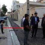 بازدید شهردار و اعضای شورای اسلامی از سطح شهر باغستان