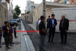 بازدید شهردار و اعضای شورای اسلامی از سطح شهر