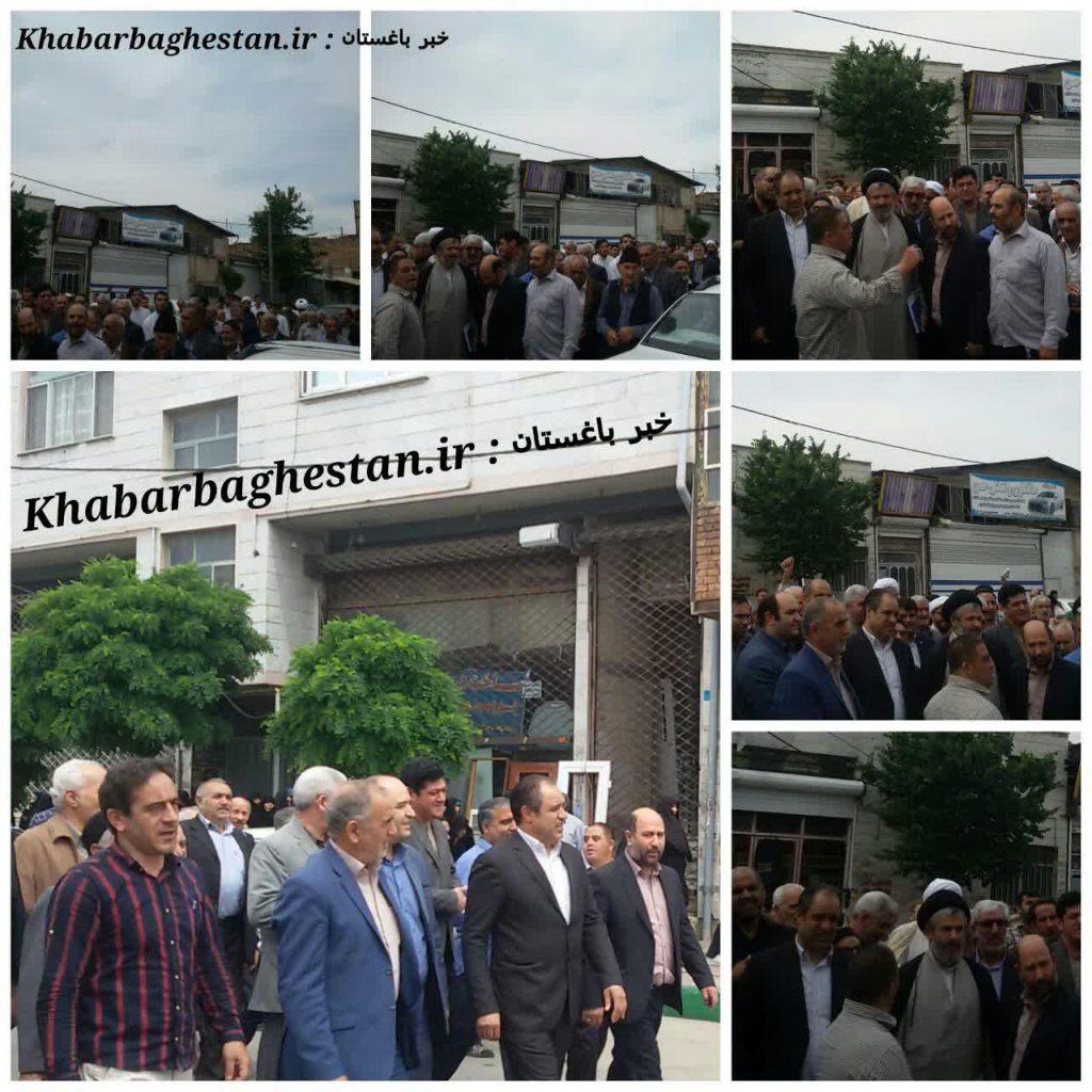 گزارش تصویری از راهپیمایی ضداستکباری مردم باغستان پس از نماز جمعه باحضور محمودی نماینده حوزه مشق