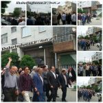 راهپیمایی ضداستکباری مردم باغستان بعد از نماز جمعه ۲۱ اردیبهشت ۹۷ در شهر باغستان