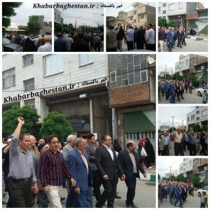 گزارش تصویری از راهپیمایی ضداستکباری مردم باغستان پس از نماز جمعه باحضور محمودی نماینده حوزه مشق۲
