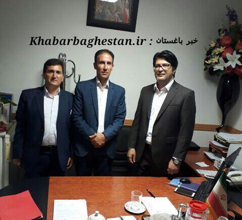 دیدار رئیس اتحادیه کارگران ساختمانی باغستان با قوتی مدیر عامل