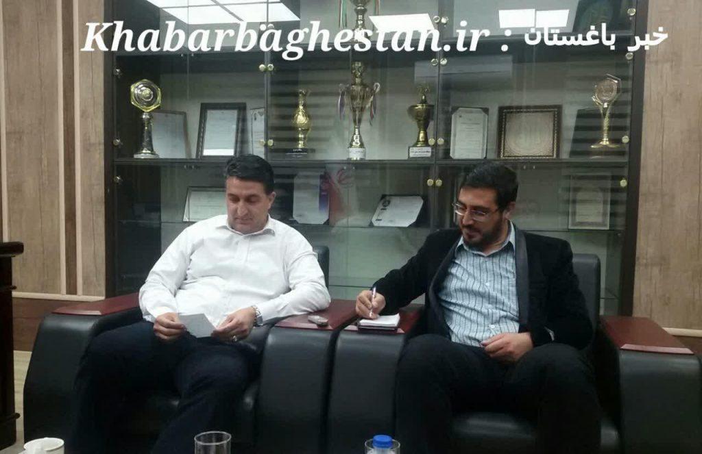 مصاحبه دوم خبر باغستان با دکتر رنجبر شهردار محترم باغستان آبان ۹۷