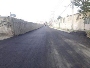آغازعملیات آسفالت ریزی خیابان شهید رستمی محله باباسلمان باغستان