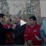بیست و یکمین مانور زلزله و ایمنی در شهر باغستان و توضیحات آقای علیزاده