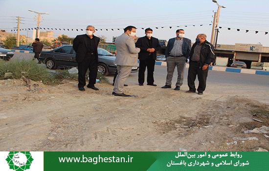 بازدید شهردار باغستان از پروژه های در حال اجرای شهرداری در حریم شهر