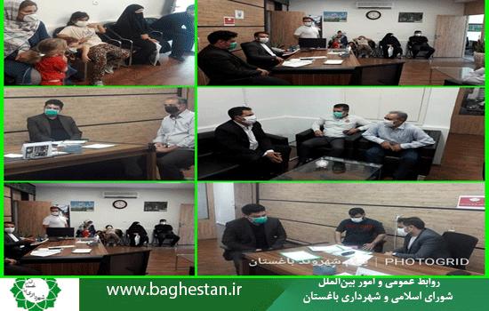سه شنبه مورخ ۹۹/۰۶/۱۸ جلسه ملاقات مردمی رئیس واعضایشورای اسلامی_شهر با شهروندان