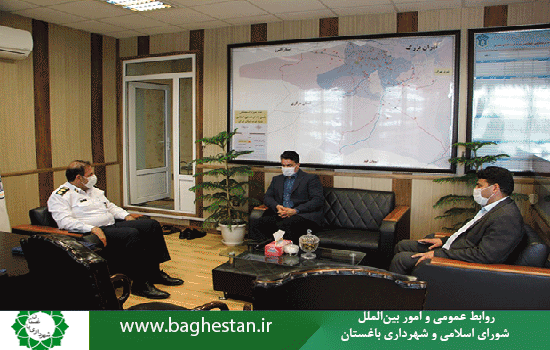 دیدارشهردارباغستان باسرهنگ_قیطاسی، رئیس پلیس راه غرب استان تهران به مناسبت هفته نیروی انتظامی