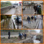 بازدید #شهردارباغستان از سطح شهر پس از بارش شدید باران پاییزی در چند روز اخیر
