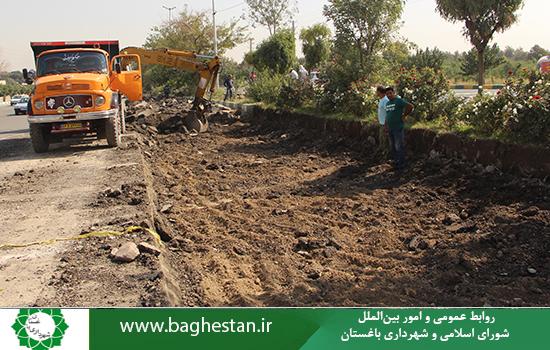 شروع عملیات عمرانی احداث دوربرگردان استاندارد،حدفاصل شرکت ایران یاسا و میدان ورودی شهر