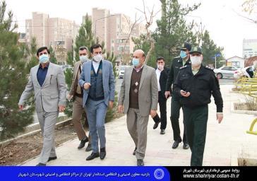 بازدید معاون انتظامی، امنیتی استانداری تهران از مراکز انتظامی و امنیتی شهرستان شهریار