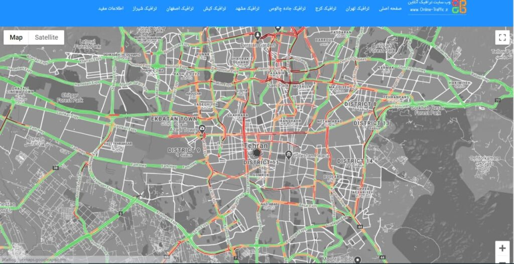 ترافیک سنگین در تهران باوجود ادامه شیوع کرونا