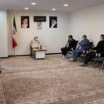 دیدار اعضای کانون مداحان شهرستان شهریار با حاج آقا بنی احمدی امام جمعه شهر باغستان