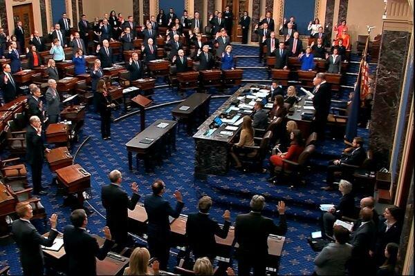 مجلس سنا طرح استیضاح ترامپ را پذیرفت