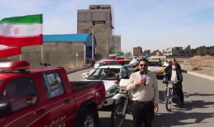 برگزاری راهپیمایی ۲۲ بهمن بهصورت خودرویی و موتوری در شهر باغستان