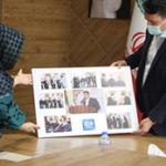 تجلیل بسیج هنرمندان استان تهران از شهردار باغستان