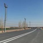 خط کشی خیابان و کمربندی آزادگان نصیراباد به دهشاد
