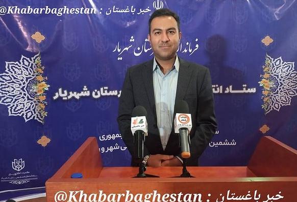محمد کیانی (ساکن خادم آباد) در ستاد انتخابات شهرستان شهریار