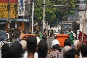 اعتراضات مردم میانمار