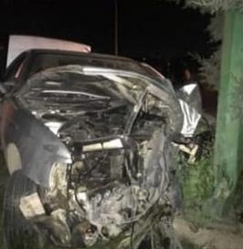 حادثه بخاطر نصب یک سرعتگیر وسط جاده نصیرآباد ـ خادم آباد !!