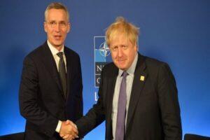 دبیرکل ناتو و نخست وزیر انگلیس