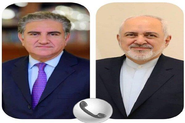 ظریف و وزیر امورخارجه پاکستان تلفنی گفتگو کردند