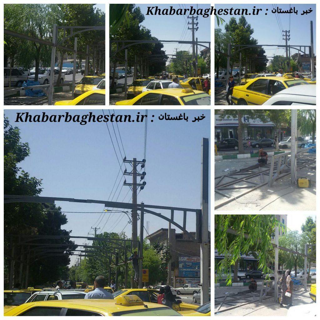 روند ساخت ایستگاه تاکسی شهرباغستان