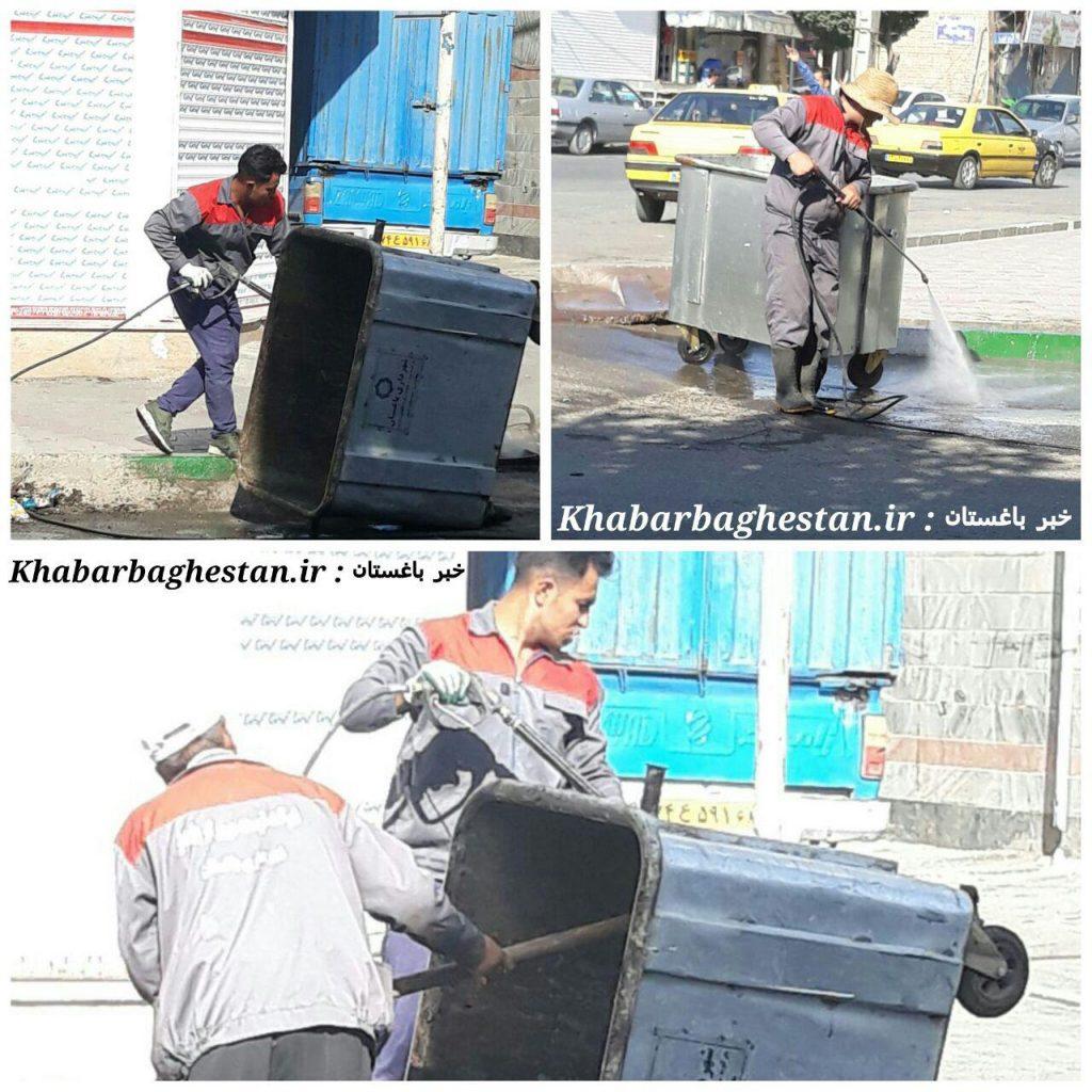 شستشوی-باکس-زباله-نصیرآباد-توسط-خدمات-شهری-شهرداری-باغستان