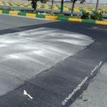 سرعتگیر نصب شده در بلوار شهید همدانی خادم آباد ـ نصیرآباد
