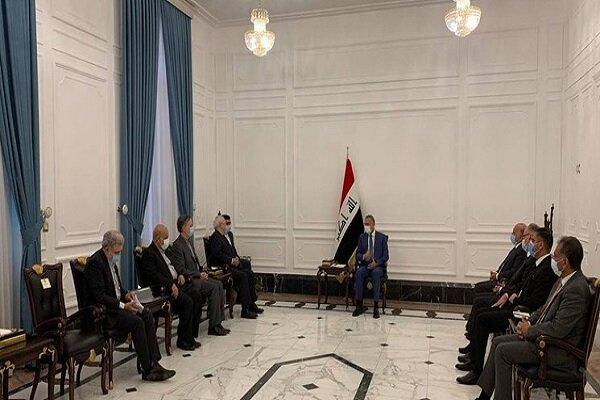 «محمد جواد ظریف» با رئیس مجلس عراق دیدار کرد