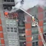 وقوع آتش سوزی گسترده در لندن