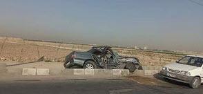 حادثه در جاده شهید باکری نصیرآباد